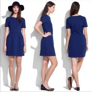Madewell Blue and Black Striped Dress